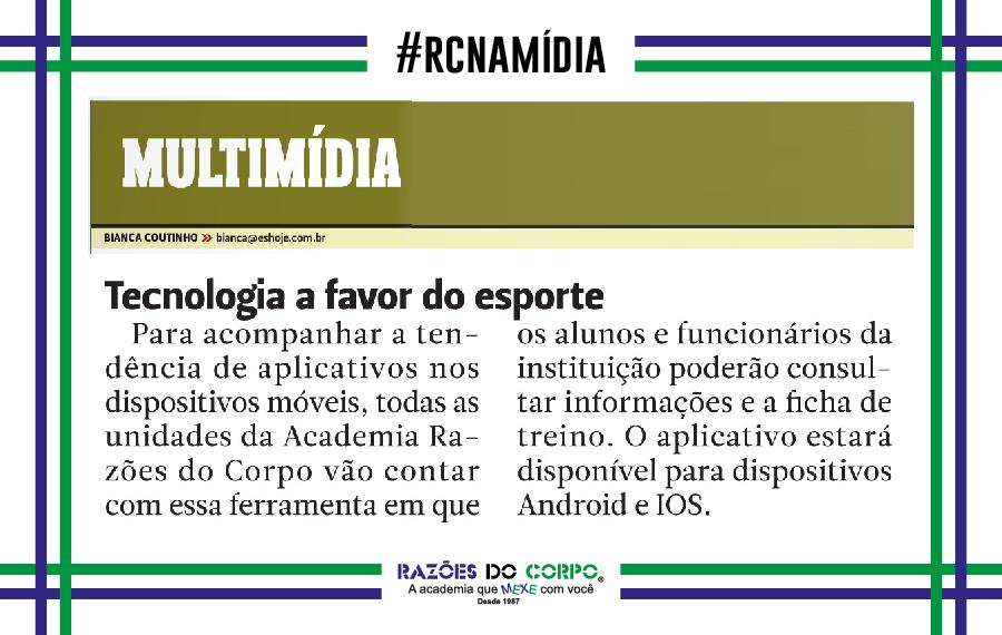 RCnaMídia - Blog - Academia Razões do Corpo